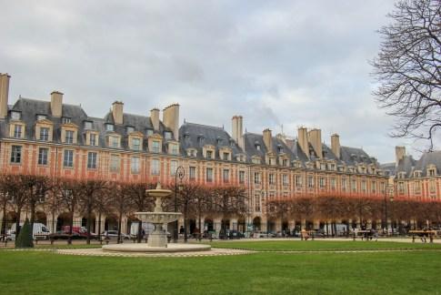 Place des Vosges in Le Marais District in Paris, France
