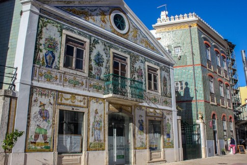 Building with tiles in Lisbon, Portugal