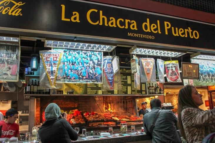 Restaurant grill in Mercado del Puerto in Montevideo, Uruguay