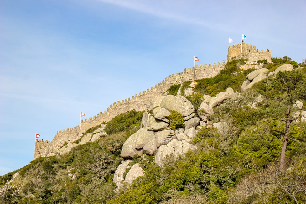 Viewpoint of the Moorish Castle in Sintra, Portugal