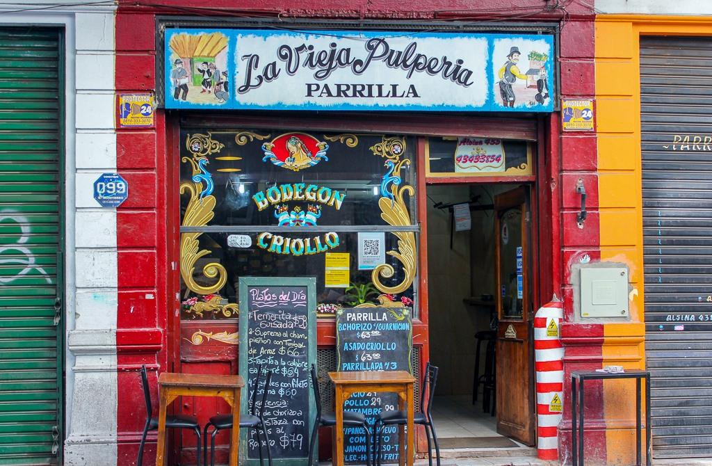 Classic Parrilla grill restaurant in Buenos Aires, Argentina