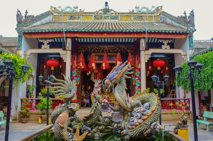 Colorful temple in Hoi An, Vietnam