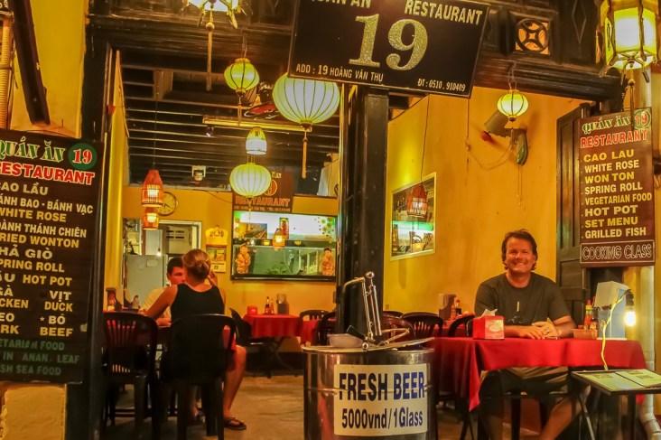 Fresh Beer bar, Quan An 19, in Hoi An, Vietnam