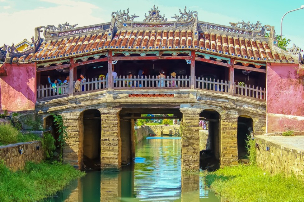 The iconic Japanese Covered Bridge in Hoi An, Vietnam