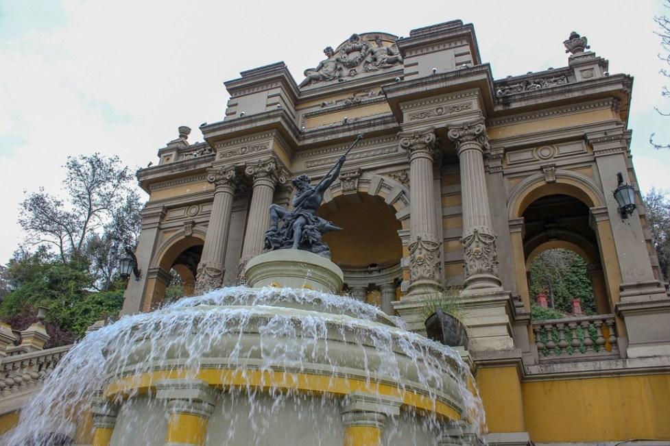 Neptune Fountain at Cerro Santa Lucia in Santiago, Chile