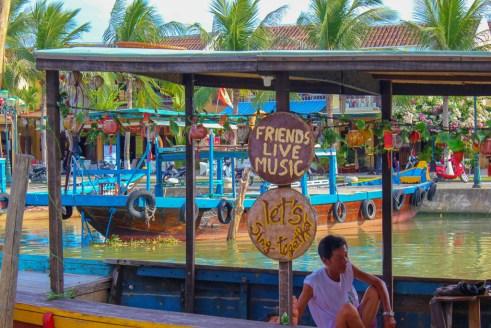 Riverboats on Thu Bon River in Hoi An, Vietnam