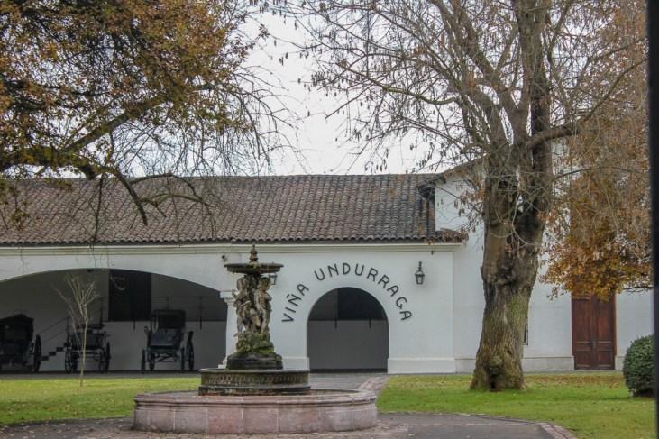 Fountain at Undurraga Winery near Santiago, Chile