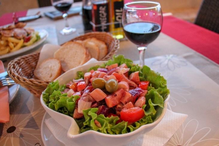 Octopus Salad at Agroturizam Dalmatino, Pomena, Mljet, Croatia