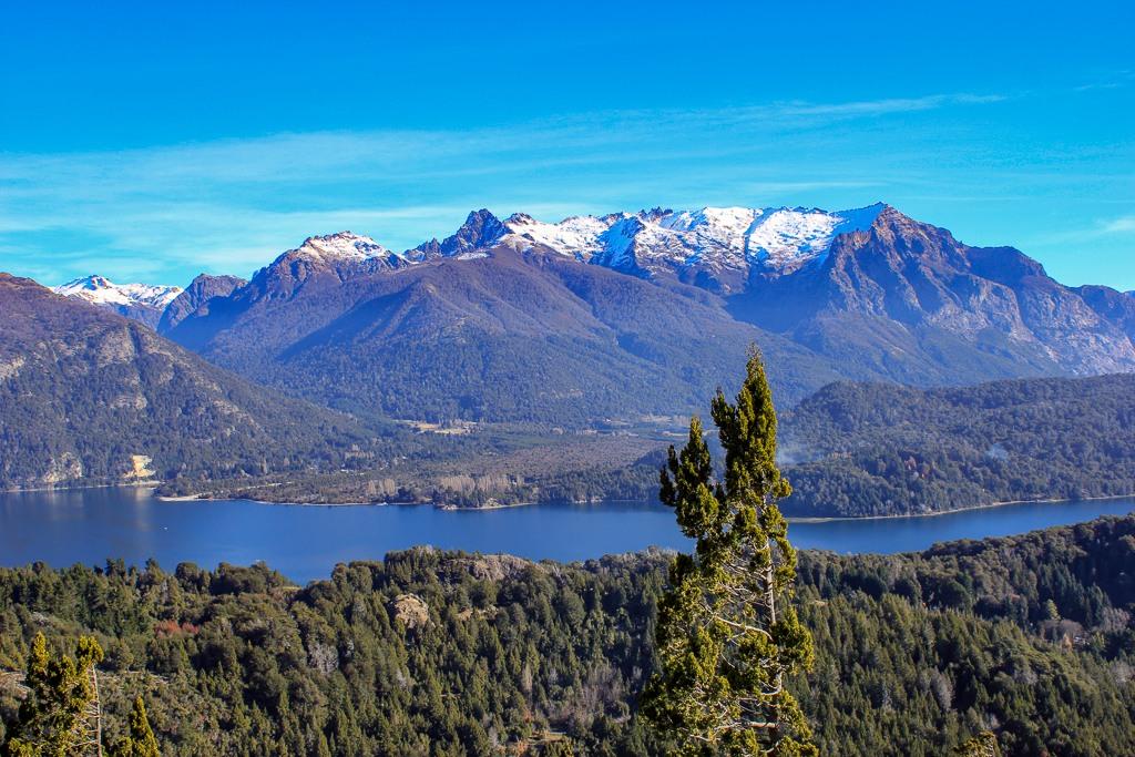 View from Cerro Campanario in Bariloche, Argentina