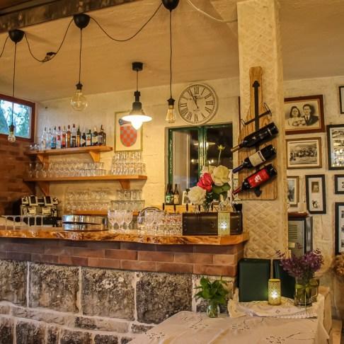 Bar at Pinjac Pub in Zrnovo, Korcula Island, Croatia