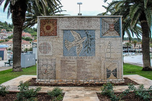 Vela Luka mosaic tile work on Korcula, Croatia