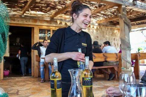 Friendly waitstaff serve wine at Hora Winery Tasting in Stari Grad, Hvar, Croatia