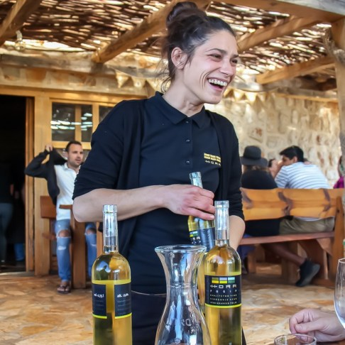 Friendly waitstaff serve wine at Hora Winery Tasting in Stari Grad, Hvar, Croatia