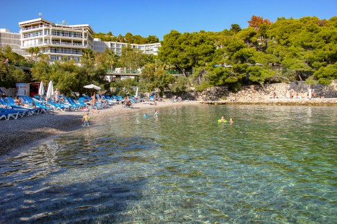 Beach Bonj at Amfora Hotel in Hvar, Croatia