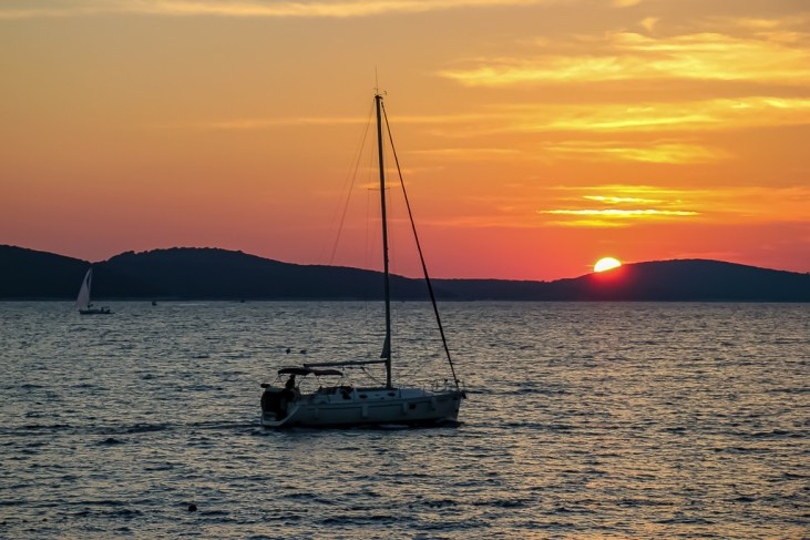 Sunset at Falko Bar in Hvar Town, Croatia