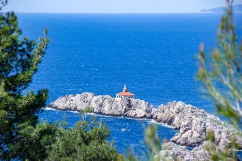 Greben Lighthouse near Lapad in Dubrovnik, Croatia