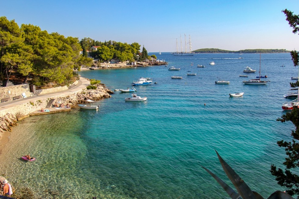 Majerovice Beach on Hvar Island, Croatia