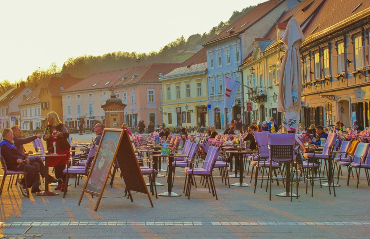 Main square in Samobor, Croatia