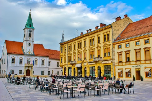 Main square in Varazdin, Croatia