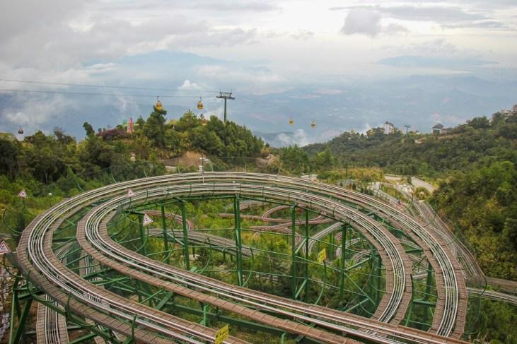 Alpine coaster at Ba Na Hills in Da Nang, Vietnam