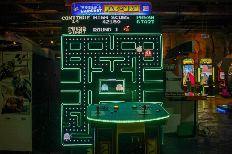 Gigantic Pac Man video game at Fantasy Park at Ba Na Hills in Da Nang, Vietnam