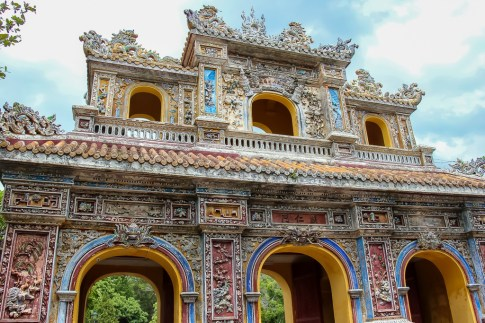 Colorful Gate, Imperial City, Hue, Vietnam