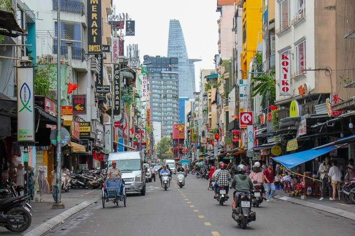 Backpacker Street, Ho Chi Minh City, Vietnam