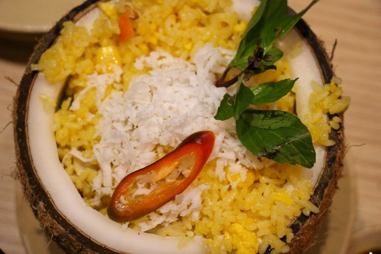 amazing, sweet and spicy, Coconut Fried Rice, Den Long, Ho Chi Minh City, Vietnam