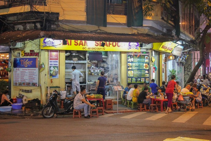 Hai San Seafood Restaurant in Hanoi, Vietnam