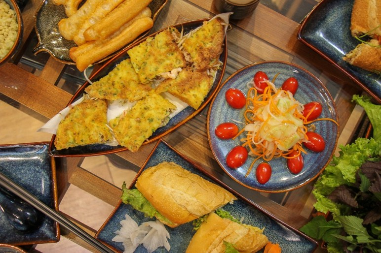 Food we prepared at Rose Kitchen Cooking Class in Hanoi, Vietnam