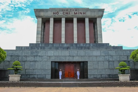 Mausoleum for Vietnamese President Ho Chi Minh in Hanoi, Vietnam