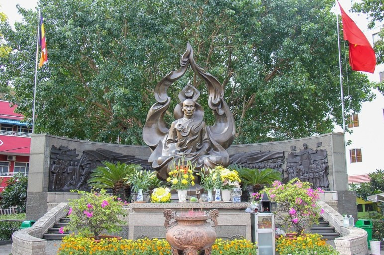 Statue of burning Monk, Saigon, HCMC, Vietnam
