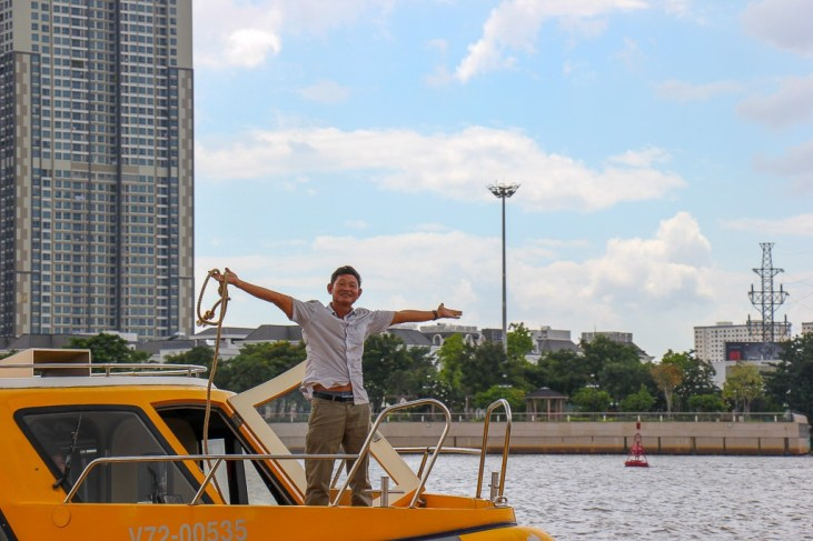 Onboard Saigon Watertaxi, Saigon, HCMC, Vietnam