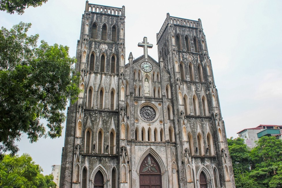 Catholic St. Joseph's Cathedral in Hanoi, Vietnam