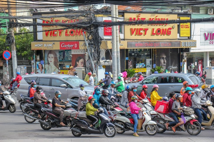 walking the crazy Streets of Saigon, HCMC, Vietnam