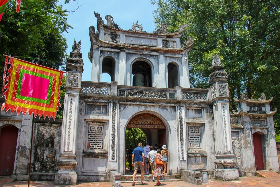 Entrance gate to the Temple of Literature in Hanoi, Vietnam