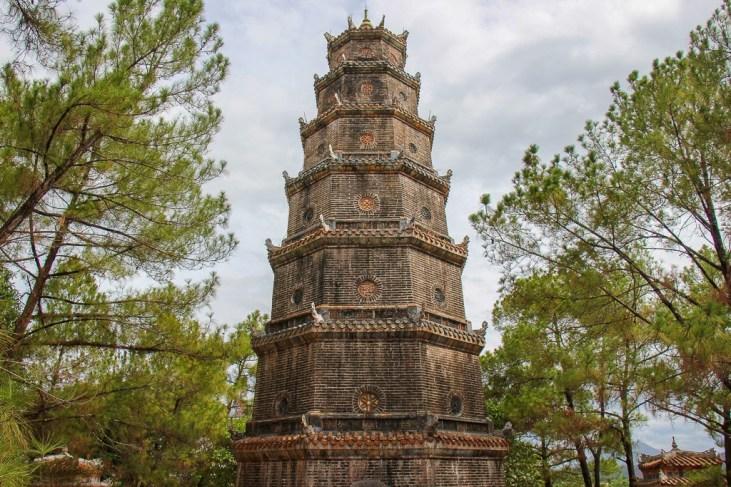 Impressive Thien Mu Pagoda, Hue, Vietnam