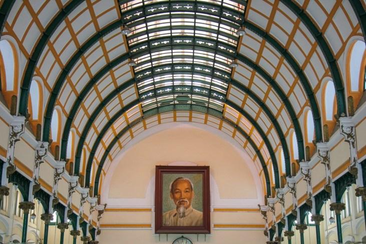 Uncle Ho Photo, Post Office, Saigon, HCMC, Vietnam