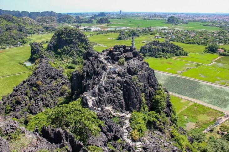 Wonderful views, Hang Mua View halfway up, Ninh Binh Province, Vietnam