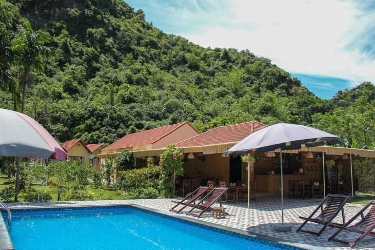 Refreshing Pool at Trang An Retreat, Ninh Binh Province, Vietnam