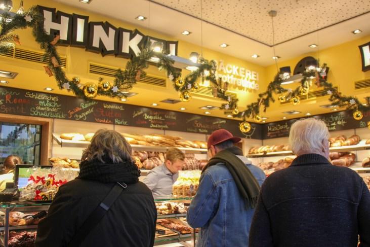 Always busy at Hinkel Bakery, Dusseldorf, Germany