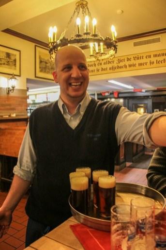 Friendly Waiter, Alt Beer, Dusseldorf, Germany