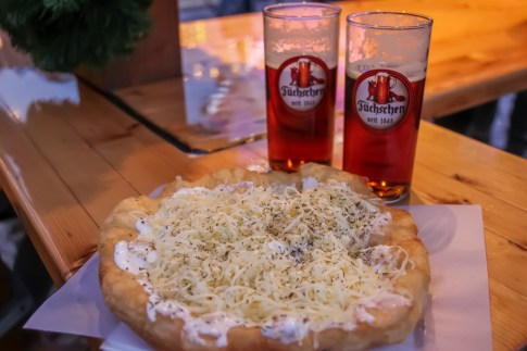 Classic Langos best washed down with an Alt Beer, Dusseldorf, Germany