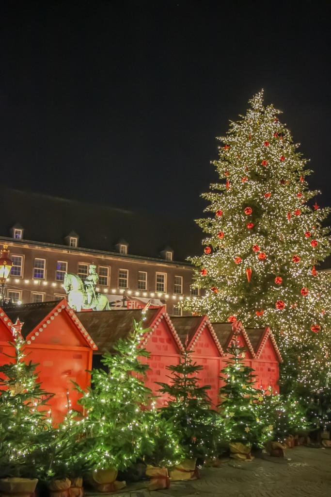 Festive Main Altmarkt Square, Dusseldorf, Germany