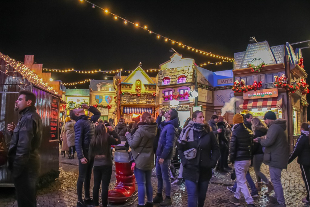 Drinks at the Christmas Market, Dusseldorf, Germany