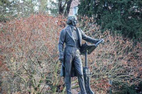 Statue at Hofgaten, Dusseldorf, Germany