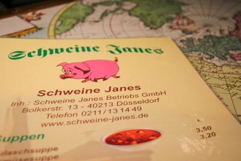 Menu Schweine Janes, Dusseldorf, Germany
