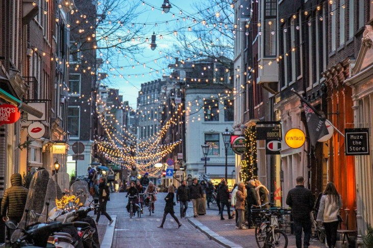 Nine Streets, Shopping Street Christmas Lights, Amsterdam, Netherlands