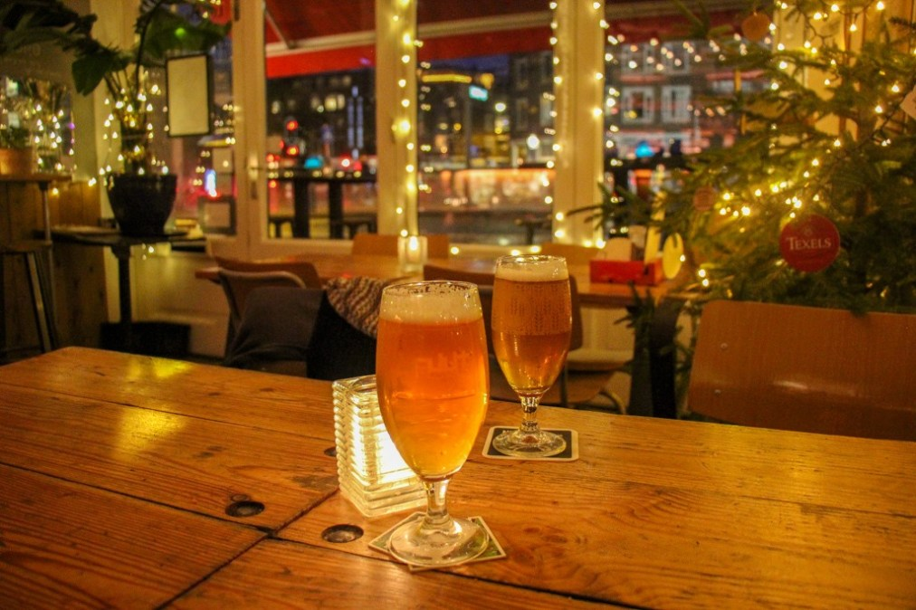 Christmas Lights, Tap Room, Amsterdam, Netherlands