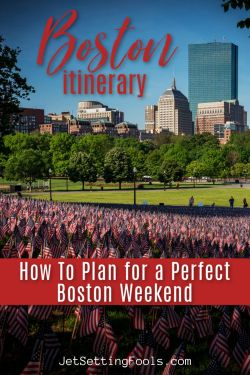 Boston Itinerary Plan for a perfect Boston Weekend by JetSettingFools.com